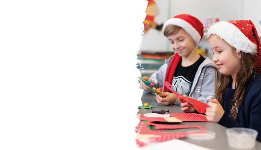 Weihnachtsbastelei für Kinder