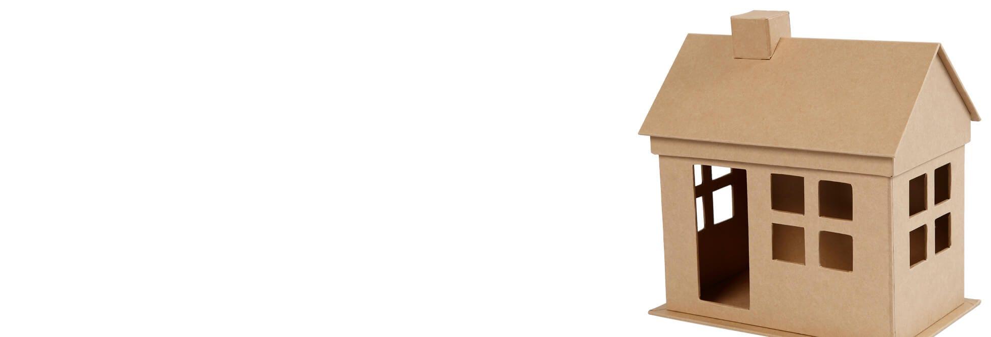 Deko-Häuser und -Fahrzeuge