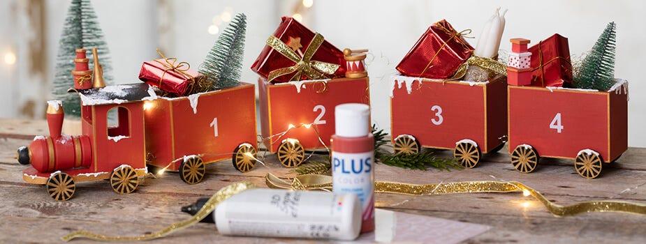 Weihnachtsgeschenke, Adventkalender-Geschenke und Verpackung