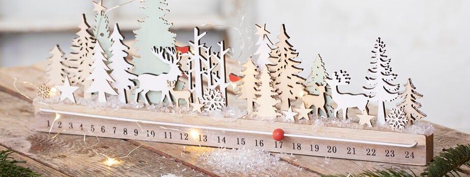 Weihnachtsdeko mit Kerzen