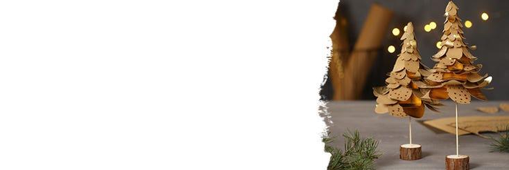 Leder-Papier-Imitat für Weihnachten