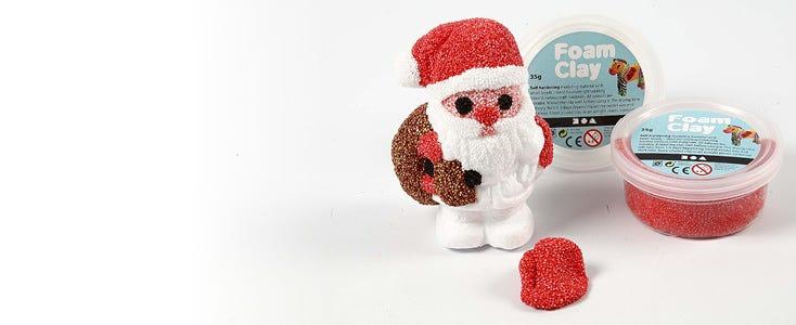 Weihnachten mit Foam Clay und Silk Clay