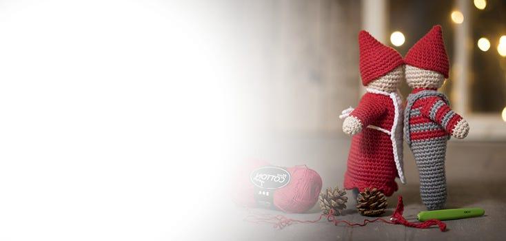 Gehäkelte und gestrickte Weihnachtsdekorationen