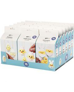 Funny Easter Eggs/Chicken/Family - Bastelsets im Sortiment, 18 Set/ 1 Pck.