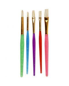 Pinsel für Kinder, Größe 8+12+18 , Sortierte Farben, 5 Stck./ 1 Pck.