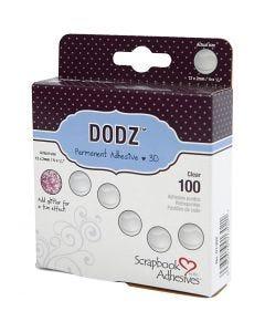 Klebepunkte Dodz, D: 12 mm, Stärke: 2 mm, 100 Stck./ 1 Pck.