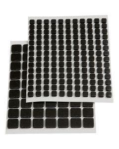 3D Klebepunkte , Größe 5x5x2 mm, Schwarz, 217 sort./ 1 Pck.