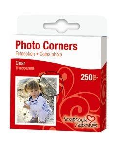 Fotoecken, B: 10 mm, Transparent, 250 Stck./ 1 Pck.