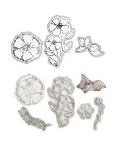 Stempel und Stanzformen, Blumen, 1 Stck.