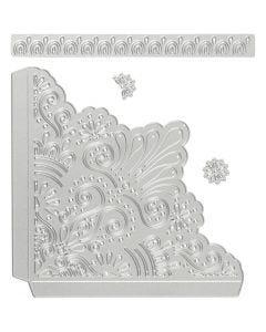 Stanz- und Prägeformen, Deko-Ecken, Größe 14,5x1,5 cm, 1 Stck.
