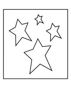Stanzformen, Sterne, Größe 14x15,25 cm, Stärke: 15 mm, 1 Stck.