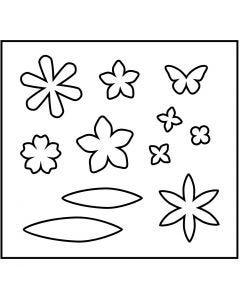 Stanzformen, Blüten, Größe 14x15,25 cm, Stärke: 15 mm, 1 Stck.