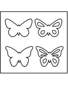 Stanzformen, Schmetterlinge, Größe 14x15,25 cm, Stärke: 15 mm, 1 Stck.