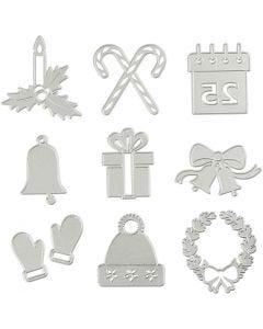 Stanz- und Prägeformen, Weihnachtsmotive, D: 2-6,5 cm, 1 Stck.