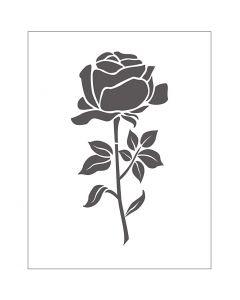 Prägeschablone, Rose, Größe 11x14 cm, Stärke: 2 mm, 1 Stck.