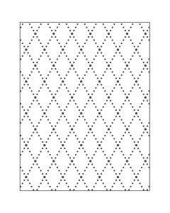 Prägeschablone, Rhomben, Größe 11x14 cm, Stärke: 2 mm, 1 Stck.