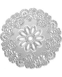 Stanzschablone, Blüten-Design, D: 10,5 cm, 1 Stck.