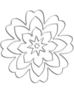 Stanzschablone, Blüten, D: 0,5-8 cm, 1 Stck.