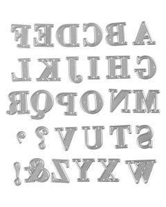 Stanzschablone, Alphabet, Größe 2x1,5-2,5 cm, 1 Stck.