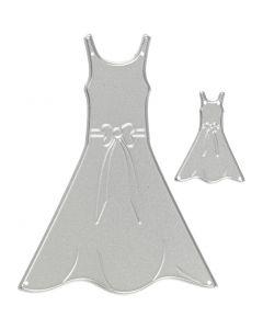 Stanz- und Prägeformen, Kleider, Größe 27x35+26x90 mm, 1 Stck.