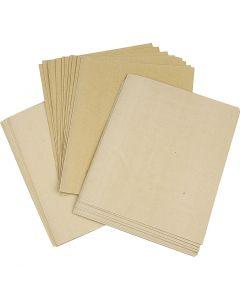 Sandpapier, Sortiment, 30 Bl. sort./ 1 Pck.