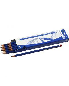 Robinson Bleistifte, D: 6,8 mm, Stärke B, Mine 2 mm, 12 Stck./ 1 Pck.