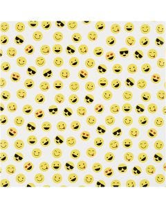 Geschenkpapier, Smiley, B: 57 cm, 80 g, 150 m/ 1 Rolle