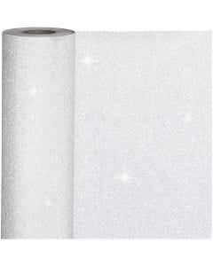 Geschenkpapier, B: 50 cm, 80 g, Silber, 100 m/ 1 Rolle