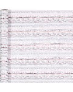Geschenkpapier, Kritzeleien, B: 70 cm, 80 g, Rot, Weiß, 4 m/ 1 Rolle
