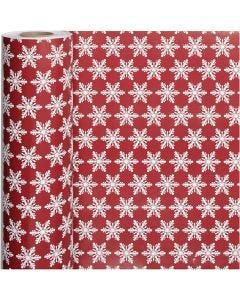 Geschenkpapier, Eiskristalle, B: 50 cm, 80 g, 100 m/ 1 Rolle