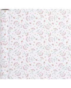 Geschenkpapier, Blumen, B: 50 cm, 80 g, 5 m/ 1 Rolle