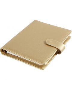 Kalender/Planer, Größe 19x23,5x4 cm, Ringbuchformat, Gold, 1 Stck.