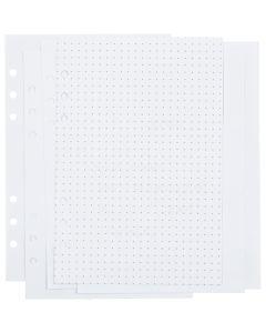 Kalenderseiten, Punkte, Größe 142x210 mm, 36 , 120 g, Weiß, 1 Stck./ 1 Pck.
