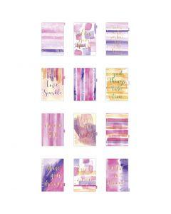 Kalendereinlagen, A5, 12 , Gold, Flieder, Rosa, 1 Stck./ 1 Pck.