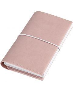 Kalender/Planer, Größe 10x18x1,5 cm, mit elastischem Verschluss, Rosa, 1 Stck.