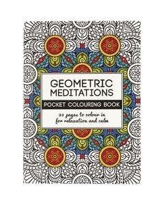 Antistress-Malbuch, Geometrie, Größe 10,5x14,5 cm, 20 , 1 Stck.