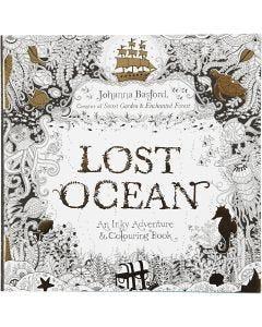 Antistress-Malbuch, Lost Ocean, Größe 25x25 cm, 80 , 1 Stck.