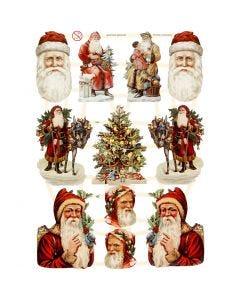 Vintage-Glanzbilder, Weihnachten, 16,5x23,5 cm, 3 Bl./ 1 Pck.