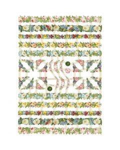 Vintage-Glanzbilder, Blumen, 16,5x23,5 cm, 3 Bl./ 1 Pck.