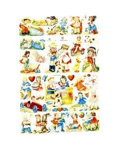 Vintage-Glanzbilder, KInder, 16,5x23,5 cm, 2 Bl./ 1 Pck.