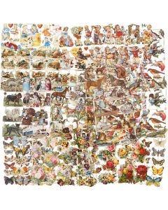 Vintage-Glanzbilder, Das ganze Jahr hindurch, 16,5x23,5 cm, 30 Bl. sort./ 1 Pck.