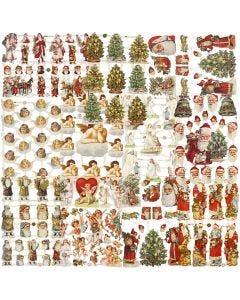 Vintage-Glanzbilder, Weihnachten, 16,5x23,5 cm, 30 Bl./ 1 Pck.