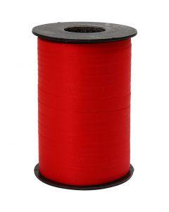 Geschenkband, B: 10 mm, Matt, Rot, 250 m/ 1 Rolle
