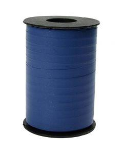 Geschenkband, B: 10 mm, Matt, Blau, 250 m/ 1 Rolle