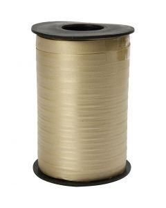 Geschenkband, B: 10 mm, Matt, Gold, 250 m/ 1 Rolle