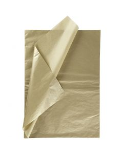 Seidenpapier, 50x70 cm, 14 g, Gold, 6 Bl./ 1 Pck.