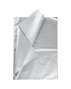 Seidenpapier, 50x70 cm, 14 g, Silber, 6 Bl./ 1 Pck.
