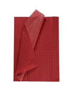 Seidenpapier, 50x70 cm, 17 g, Rot, 6 Bl./ 1 Pck.