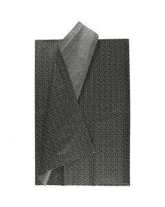 Seidenpapier, 50x70 cm, 17 g, Schwarz, 6 Bl./ 1 Pck.