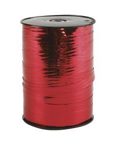 Kräuselband, B: 10 mm, Glänzend, Metallic-rot, 250 m/ 1 Rolle
